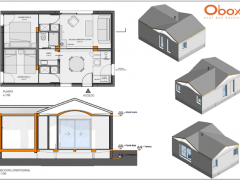 Obox is building a house in the Sierra of Madrid of 54 m2 under the concept of minimum house