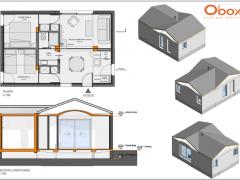 Transporte y montaje de una casa prefabricada de 54 m2  en Galapagar – Madrid