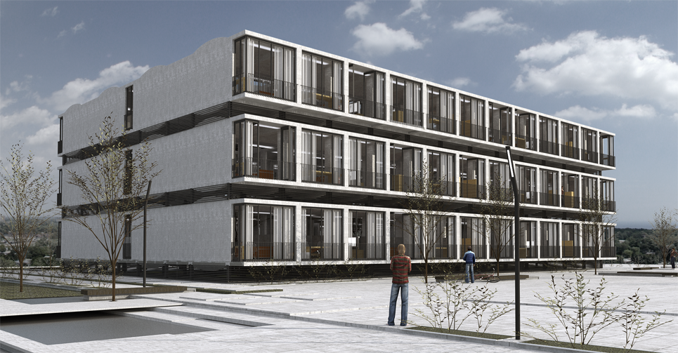 Residencias de estudiantes prefabricadas de hormig on obox for Residencia para estudiantes
