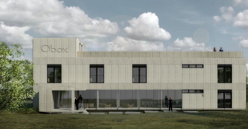 Proyecto construcción prefabricada - albergue - fachada principal
