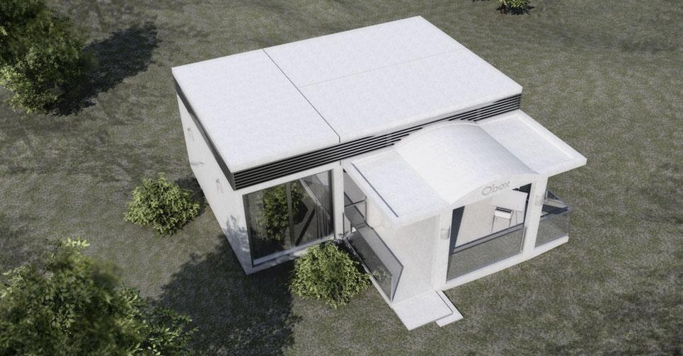 Proyecto de casa prefabricada en Fuengirola vista aérea