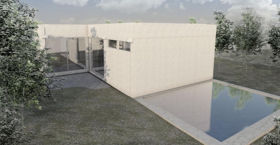 Construcción de casa prefabricada - detalle exterior superficie