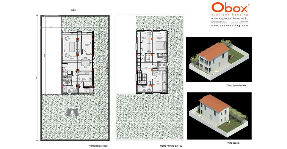 Planta y Vista Casa 50-150 - 1