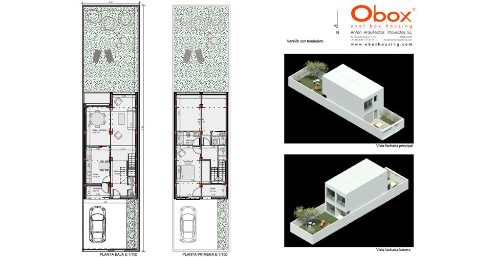 Planta y Vista Casa 50-150 - 2