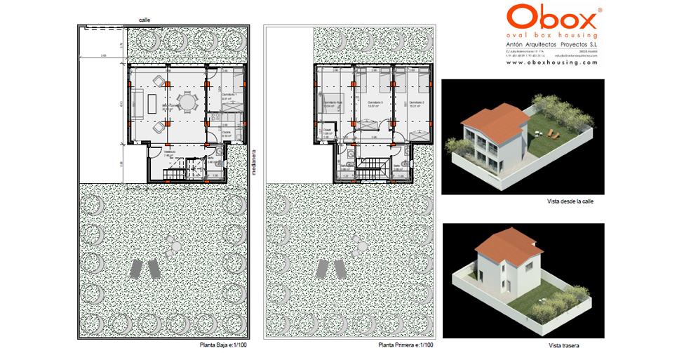 Planta y Vista Casa 50-150 - 3