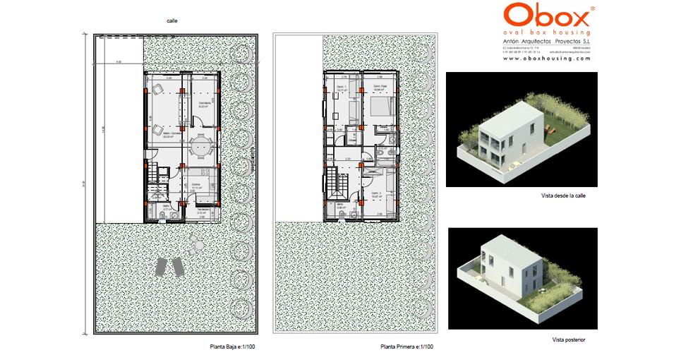 Planta y Vista Casa 50-150 - 4