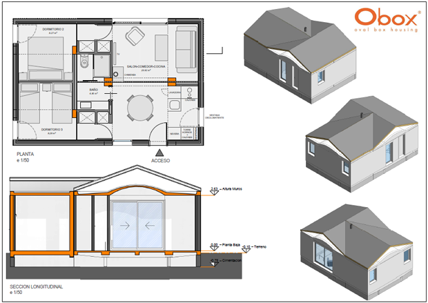 Transporte y montaje de una casa prefabricada de 54 m2 en - Casas prefabricadas modulos ...